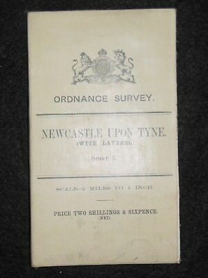 Vintage Ordnance Survey Map; Newcastle Upon Tyne - 1908- Large Sheet No 3