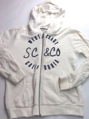 GIRLS age 13 yrs Soft Cream Fleece jacket cardigan top hoodie SoulCal &Co (346)