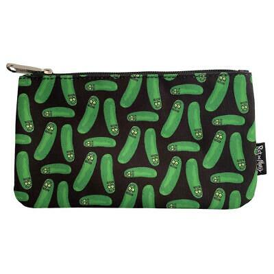 7f2cbedc3 LOUNGEFLY PICKLE RICK and Morty Pencil Case Cosmetic Bag Pouch ...
