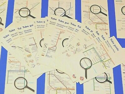 Lot Of 33 Different London Underground Tube Guides Maps - Ex / Mint Condition