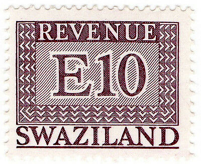 (I.B) Swaziland Revenue : Duty Stamp E10