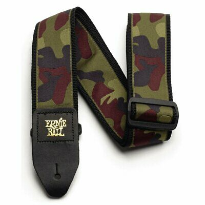 Ernie Ball 2in Traditional Camo guitar strap with leather ends, 4105