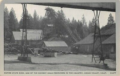 LPS96 Grass Valley California Empire State Mine Gold Producer Mining Postcard