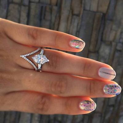Women's Inlaid Crystal Zircon Rings Jewelry Wedding Party Ring Engagement Rings