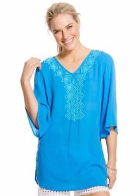 b4ffb0575a4 NWT Lilly Pulitzer for Target Womens Gauze Tunic Top Cover Up Blue Bell  Small
