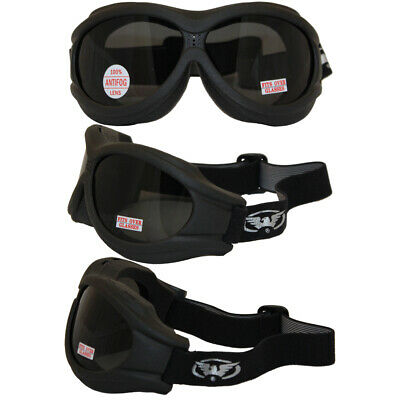 8f1edc4af50f Big Ben Fit Over Glasses Motorcycle Goggles Anti Fog Smoke Lens With Pouch