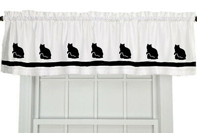 Ragamuffin Cat  Window Valance Curtain in Your Choice of Colors