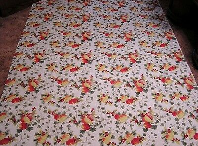 "Vintage Tablecloth Ashley Cooper Pears Peaches Berries Stunning!! Size 58"" X 84"""