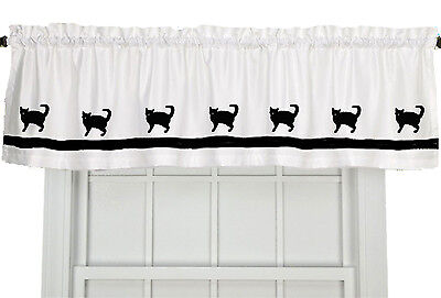 American Wirehaired Cat Window Valance Curtain in Your Choice of Colors