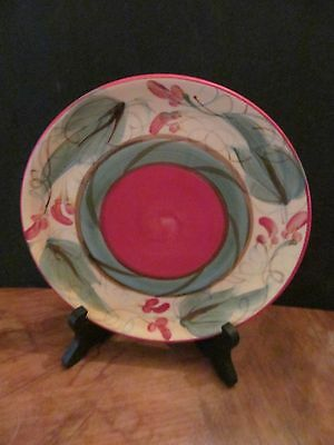 """Gail PIttman Multi Color Tuscan Painted Signed Small Plate 5 5/8"""" Round"""