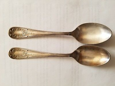 "2 VINTAGE COLLECTIBLE Flatware,FAIRFAX BENEDICT MFG CO,1909,  6"" Soup spoons"