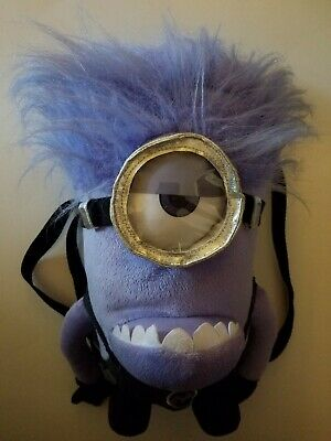 """Disney Despicable Me 2 Minions Evil 15"""" Plush Backpack Tote-Licensed"""