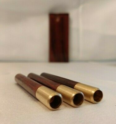 Rosewood Dugout +3 Brass One Hitters with Rosewood Adornment, Wooden Hitter Pipe