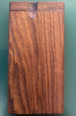"""Dugout One Hitter Pipe, 4"""" Wooden Smoking Box, Tobacco Pipe - SHIPS SAME DAY"""