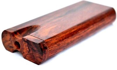 Rosewood Dugout + 3 Grinder One Hitter Bats, Metal One Hitters, Wooden Stash Box