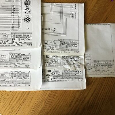 terex t200 t300 electrical wiring diagrams & hydraulic schematics service  manual
