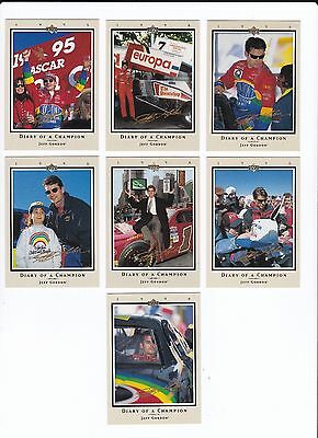 ^1996 UD RTTC DIARY OF A CHAMPION Jeff Gordon Complete 10 card set BV$15!!!
