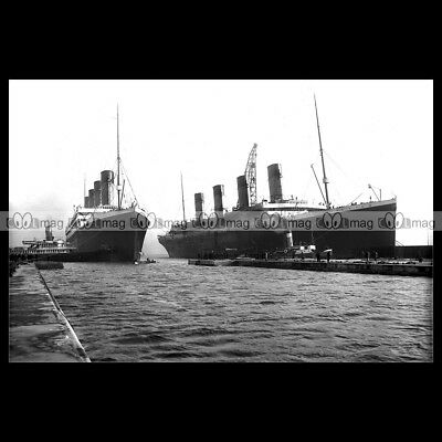 #php.02065 Photo RMS TITANIC OLYMPIC WHITE STAR LINE BELFAST PAQUEBOT LINER