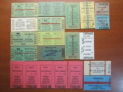 Railway Tickets Bulk Lot Mint & Cancelled 20 MIXED TICKETS QLD NSW VIC