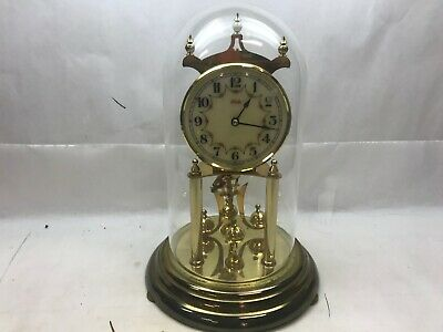 Vintage KUNDO Anniversary CLOCK Gold West GERMANY For Repair