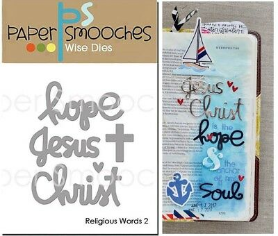 Paper Smooches Wise Dies - Religious Words, Hope, Jesus Christ, Cross, Bible