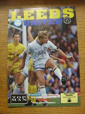 29/09/1990 Leeds United v Arsenal  (Good Condition)