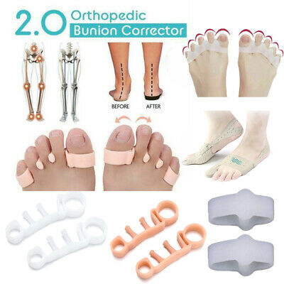Orthopedic Bunion Corrector 2.0 Toe Separators Elastic Straighteners Spacers JT