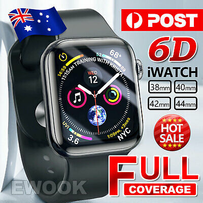 For Apple iWatch 4 6D Tempered Glass Full COVER Screen Protector 38/42/40/44mm