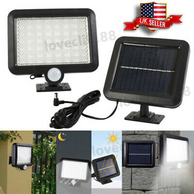 Solar Powered PIR Motion Sensor 56 LED Outdoor Garden Light Security Flood Lamp