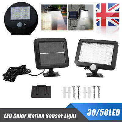 Solar Powered PIR Motion Sensor LED Light Outdoor Garden Security Flood Lamp UK