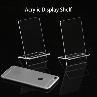 Acrylic Phone Display Stand Perspex Plastic Retail Holder Clear Mount Holder New