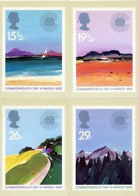 GB 1983 PHQ Cards Mint Set~Commonwealth Day~(4)~PHQ-66~UK Seller