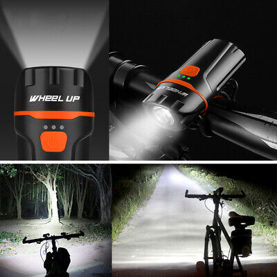 Bicycle Mountain Bike Front Light LED USB Headlight Lamp Torch Rechargeable