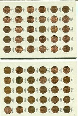 1975 - 2009 P D Lincoln Head Penny Set Lot Of 4  Circulated 7202L
