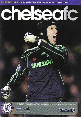 Football Programme>CHELSEA v WOLVES Nov 2009