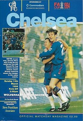 Football Programme>CHELSEA v WOLVES Mar 1994