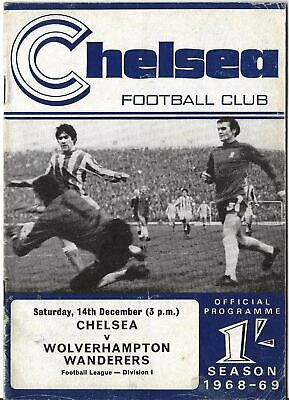Football Programme>CHELSEA v WOLVES Dec 1968