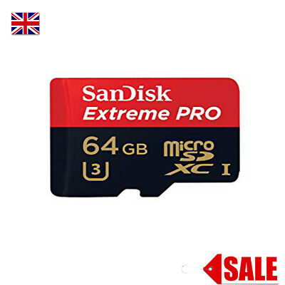 Sandisk 64Gb Memory Card Extreme Pro Class 10 Uhs-I U3 A1 100Mb/S Micro Sdxc Uk