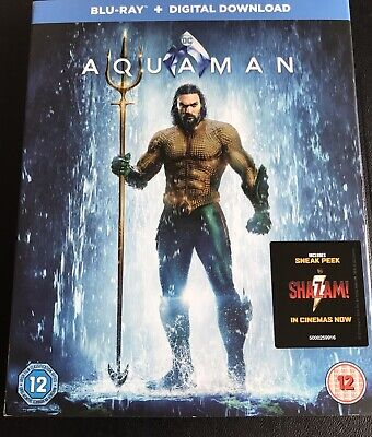 Aquaman Blu Ray SLIP COVER ONLY