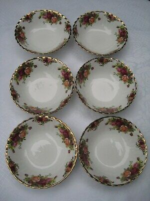 6 x Royal Albert 'Old Country Roses' Cereal / Dessert  Bowls - 1st Quality