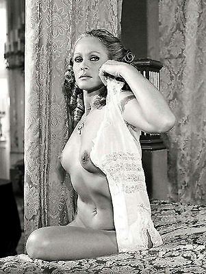 Vintage Ursula Andress Nude sitting showing Breasts 8 x 10 Photograph
