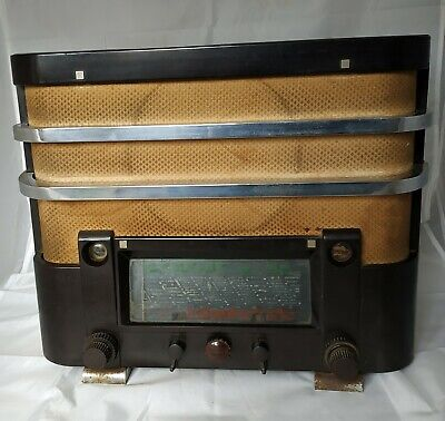 Antique French radio ORADYNE LP 78 ART DÉCO / Bakélite Poste à lampe TSF 1937