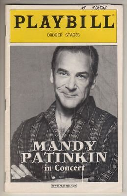 """""""Mandy Patinkin in Concert""""   Playbill   2004   Off-Broadway   Dodger Stages"""
