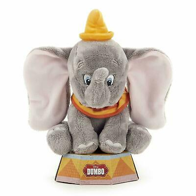 """New Official Disney 10"""" Dumbo Soft Plush Toy On Display Plinth"""