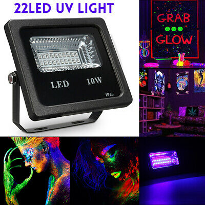 10W UV 22LED Floodlight Projecteur Spot Lampe DJ Disco Scène Jardin Party  New
