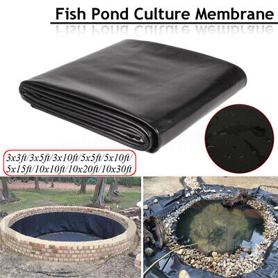 HDPE Durable Bâche Pr Bassin Étang Jardin Film Aquarium Fish Pond Liner  New