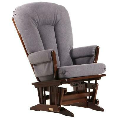 Dutailier Ultramotion- 2 Post Glider- Coffee Finish and Dark Grey Fabric
