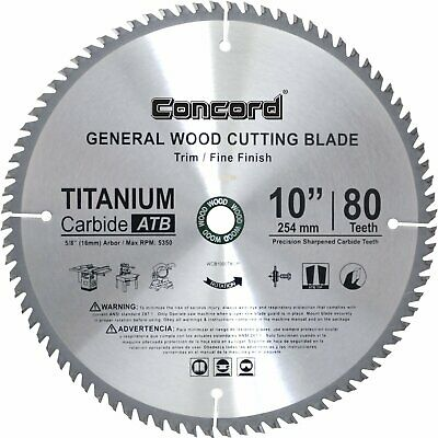 Saw Blade 10-Inch 80 Teeth TCT Compact Non Ferrous Metal Circular Wood Cutting