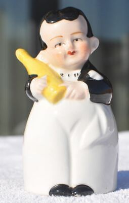 1930s Germany Russia Latvia? Collectible Salt Cellar BOY WITH A BOTTLE