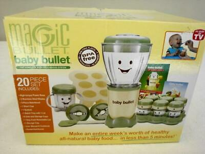 NEW Magic Bullet Baby Bullet Baby Food Maker 20 Piece Set Baby Care System